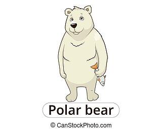 Polar bear cartoon vector illustration