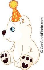 Polar Bear Celebrating - Illustration of polar bear...