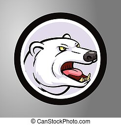 Polar bear  Circle sticker