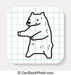 polar bear doodle