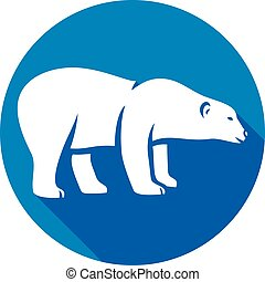 polar bear flat icon