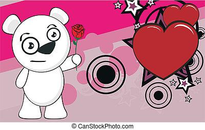 polar bear funny cartoonbackground0