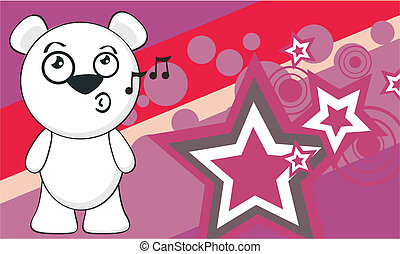 polar bear funny cartoonbackground2
