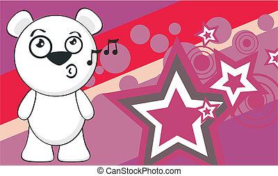 polar bear funny cartoonbackground2