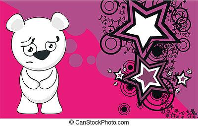polar bear funny cartoonbackground3