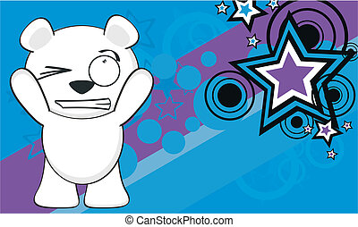 polar bear funny cartoonbackground5