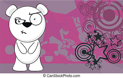 polar bear funny cartoonbackground6