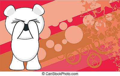 polar bear funny cartoonbackground7