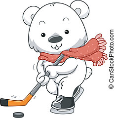 Polar Bear Ice Hockey