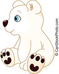 Polar bear  - Illustration of cute polar bear