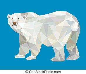Polar bear low polygon style