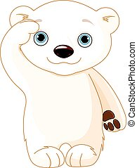 Polar Bear Salute - Illustration of polar bear saluting