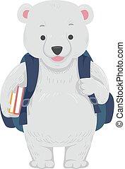 Polar Bear School Bag Books