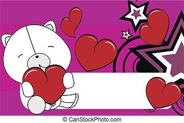 polar bear valentine plush backgrou