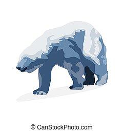 Polar bear, vector illustration