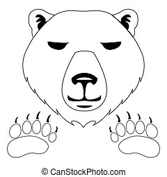 Polar bear - white bear icon