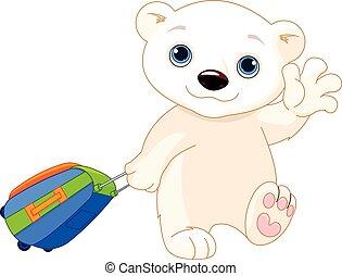 Polar Bear with a Suitcase