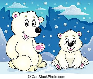 Polar bears theme image 2