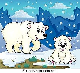 Polar bears theme image 3