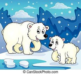 Polar bears theme image 4 - eps10 vector illustration.