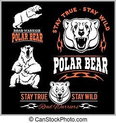 polar bears - vector set