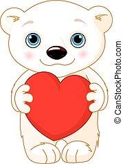 polar, dia, urso, valentine