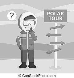 Polar explorer lost in arctic