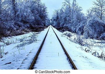 Polar Express - Railroad tracks traverse through the beauty...