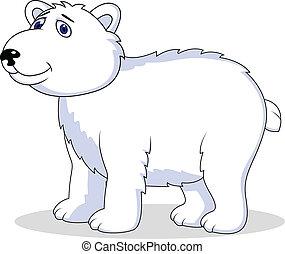 polar, karikatur, bär
