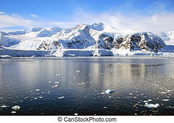 Polar landscape in Antarctica