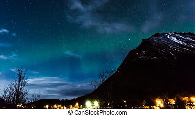 polar lights in Norway - aurora borealis in Norway in a...