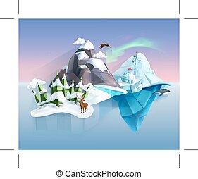 Polar nature, winter wonderland
