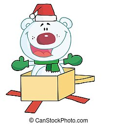 polar, navidad, oso