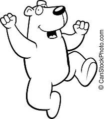 polar, saltar, oso