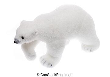 polar, stykke legetøj, -, bjørn