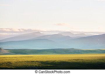 Polar tundra - Tundra landscapes above Arctic circle