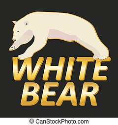 Polar white bear logo vector design