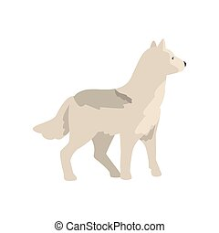 Polar wolf arctic animal vector Illustration on a white background