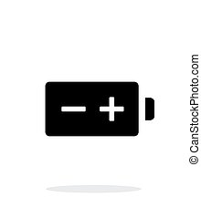 Polarity battery simple icon on white background. Vector...