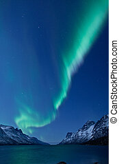 polarlicht borealis, (northern, lights)