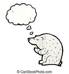 polarny, rysunek, niedźwiedź