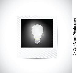 polaroid, bulbo, luz