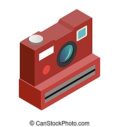 Polaroid camera isometric 3d icon
