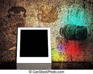 polaroid, cornice