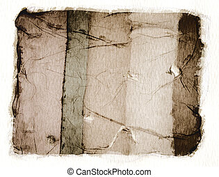 Polaroid emulsion transferred onto watercolor paper and then scanned.