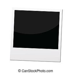 polaroid, fotokader, of, grens, vector