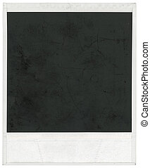 Polaroid frame - Big scan of polaroid frame isolated inside...