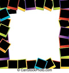 polaroid, frame-, coloridos, polaroids