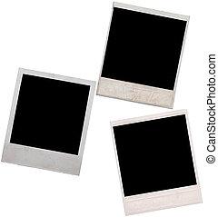 polaroid frame isolated on white