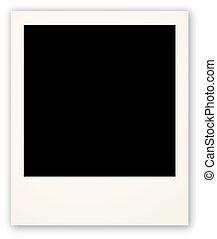 polaroid, frame, voor, jouw, voorwerp